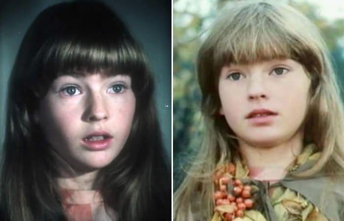 Нина Гомиашвили в роли Герды в фильме *Тайна Снежной королевы*, 1986