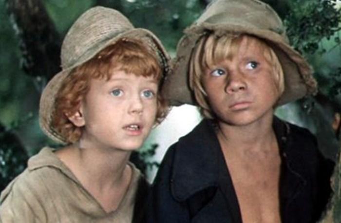 Кадр из фильма *Приключения Тома Сойера и Гекльберри Финна*, 1981