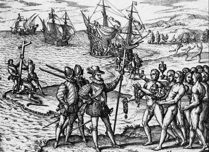 Прибытие Колумба на Эспаньолу (Гаити) в 1492 г. | Фото: atlasobscura.com