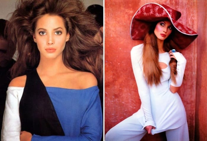 Знаменитая супермодель 1990-х гг. Кристи Тарлингтон | Фото: mylitta.ru и vplate.ru