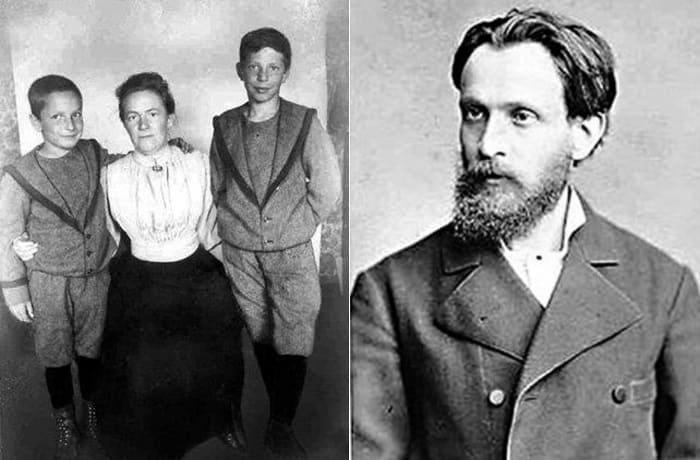 Слева – Клара с сыновьями. Справа – ее гражданский муж Осип Цеткин   Фото: foto-history.livejournal.com