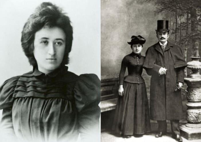 Роза Люксембург и Лео Йогихес, 1892   Фото: persons-info.com, lisa.ru