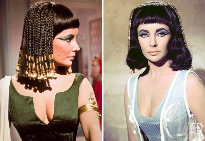 Элизабет Тейлор в роли Клеопатры, 1963 | Фото: tele.ru и love2beauty.ru