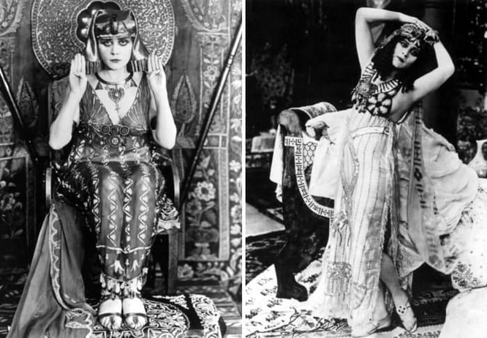 Теда Бара в роли Клеопатры, 1917 | Фото: vev.ru и elle.ru