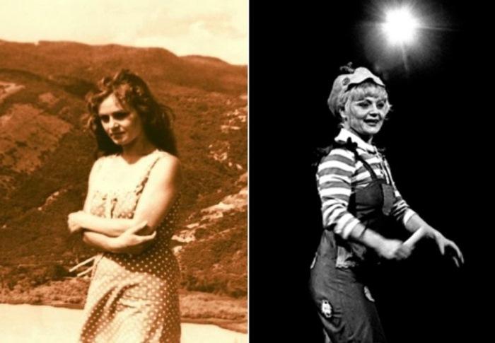 Ирина Асмус в обычной жизни и на цирковой арене | Фото: liveinternet.ru