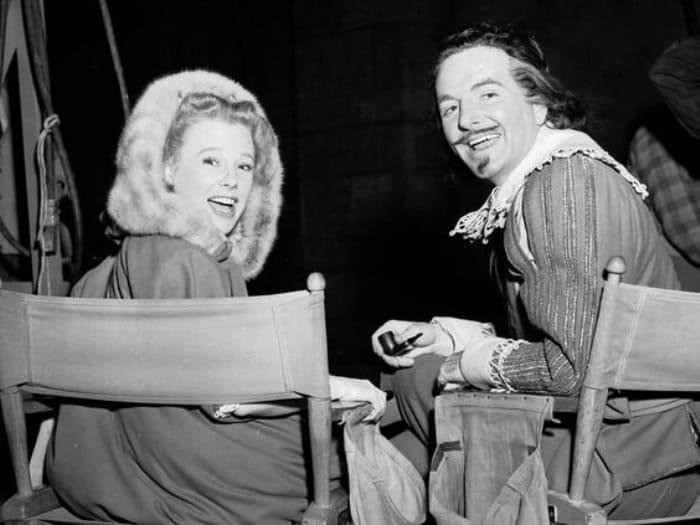 Джун Эллисон на съемках фильма *Три мушкетера*, 1948   Фото: kinoistoria.ru