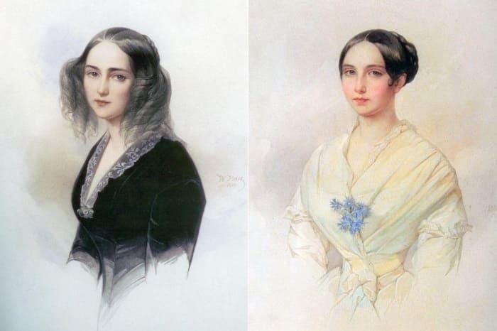 В. Гау. Портрет графини Э. К. Мусиной-Пушкиной, 1840 г. и 1845 г.   Фото: liveinternet.ru