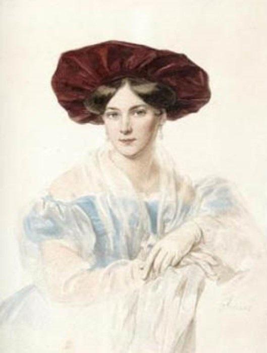 П. Соколов. Портрет Н. В. Строгановой, ок. 1825   Фото: liveinternet.ru
