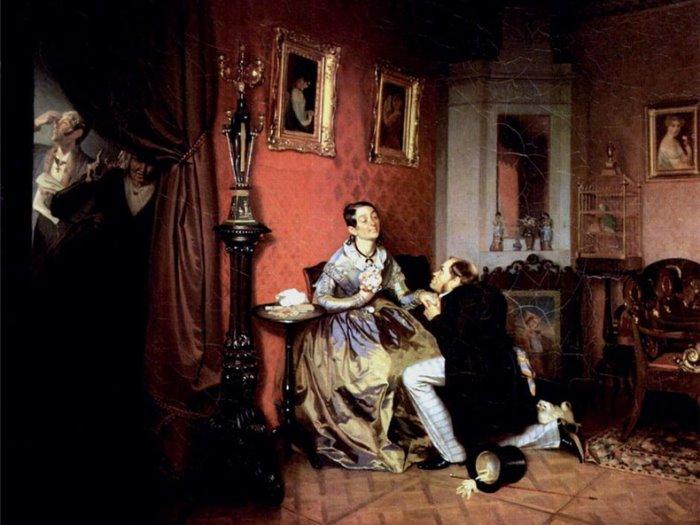 П. Федотов. Разборчивая невеста, 1847   Фото: ucoz.ru