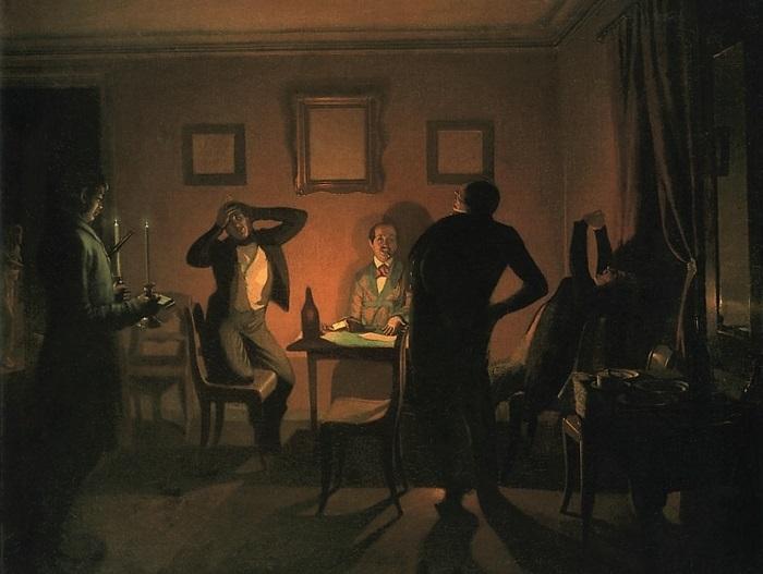 П. Федотов. Игроки, 1852   Фото: artvek.ru