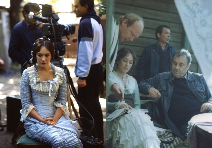 На съемках фильма *Жестокий романс*, 1984 | Фото: kinopoisk.ru