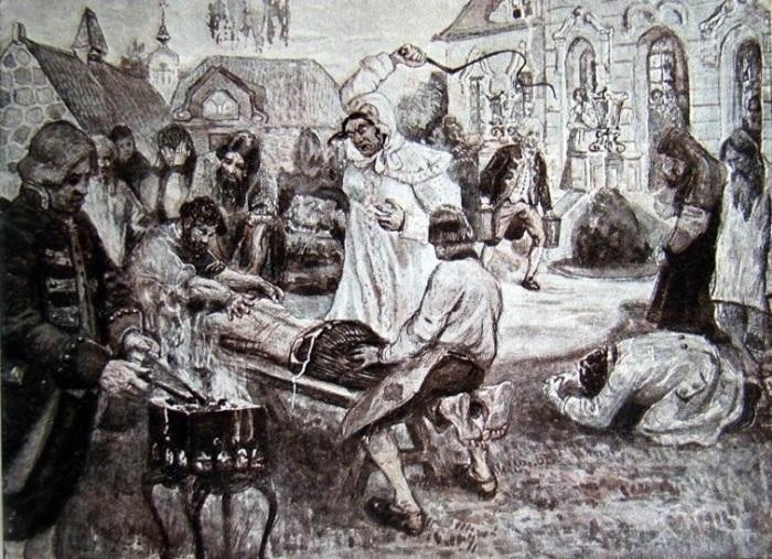Расправа помещицы Подольского уезда Д. Н. Салтыковой над крестьянами