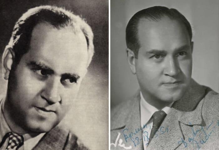 Давид Ойстрах в середине 1940-х гг. и в 1955 г. | Фото: berkovich-zametki.com и stradivari.livejournal.com