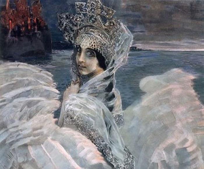 Михаил Врубель. Царевна-Лебедь, 1900 г. Фрагмент