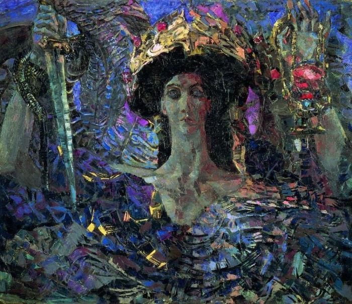 Михаил Врубель. Шестикрылый серафим, 1904 г.