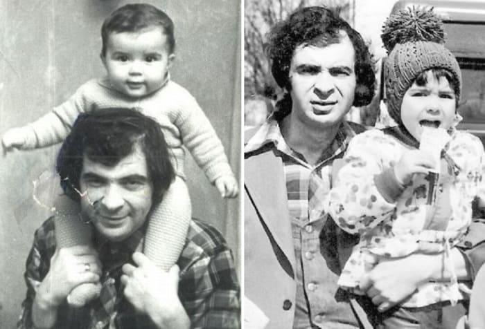 Илья Олейников в молодости с сыном Денисом | Фото: tele.ru, uznayvse.ru