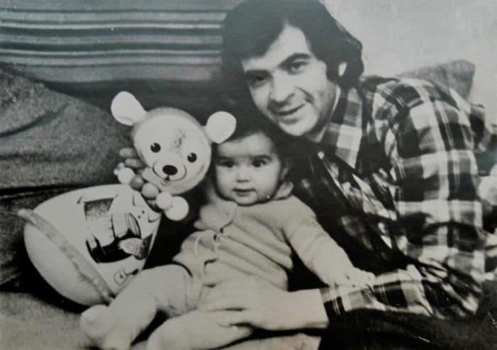 Илья Олейников в молодости с сыном Денисом | Фото: music-facts.ru