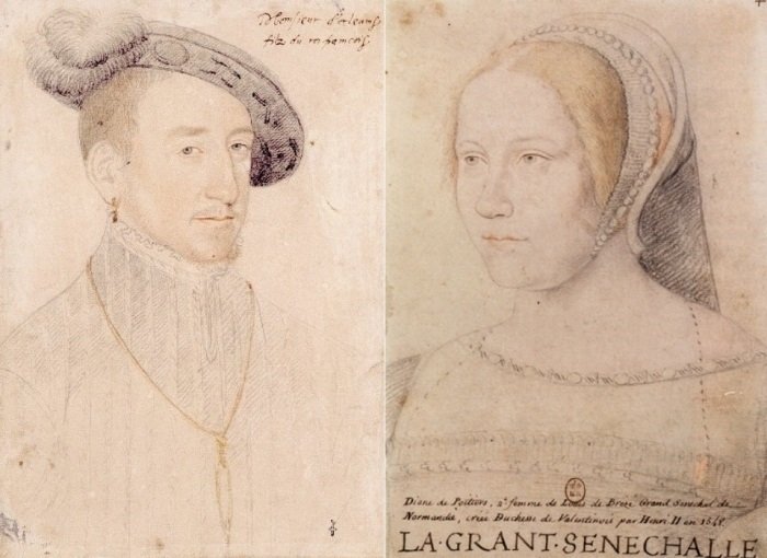 Ф. Клуэ. Портреты Генриха II и Дианы де Пуатье | Фото: photoshare.ru