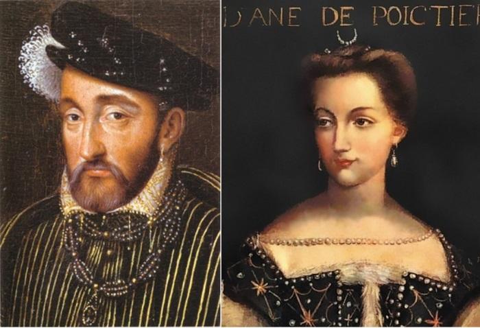 Генрих II и Диана де Пуатье | Фото: liveinternet.ru