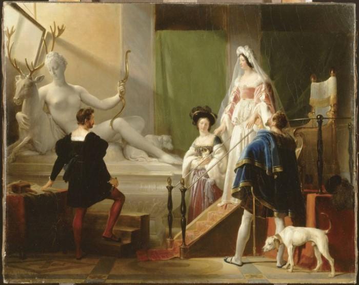 Ж.-О. Фрагонар. Генрих II и Диана де Пуатье в мастерской Жана Гужона | Фото: artwall.ru