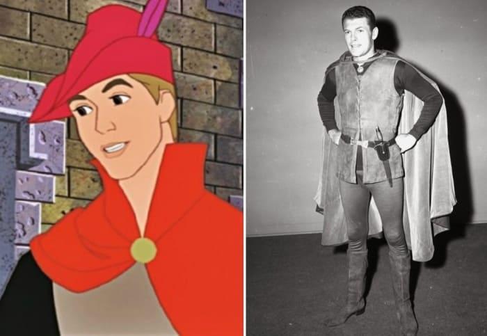 Принц Филипп и его прообраз – актер Эд Кеммер | Фото: liveinternet.ru, ivona.bigmir.net