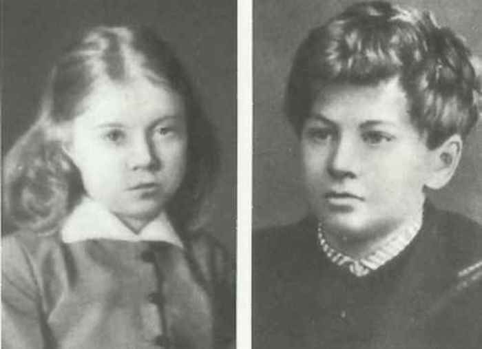 Оля и Володя, дети Менделеевых | Фото: ownlib.ru