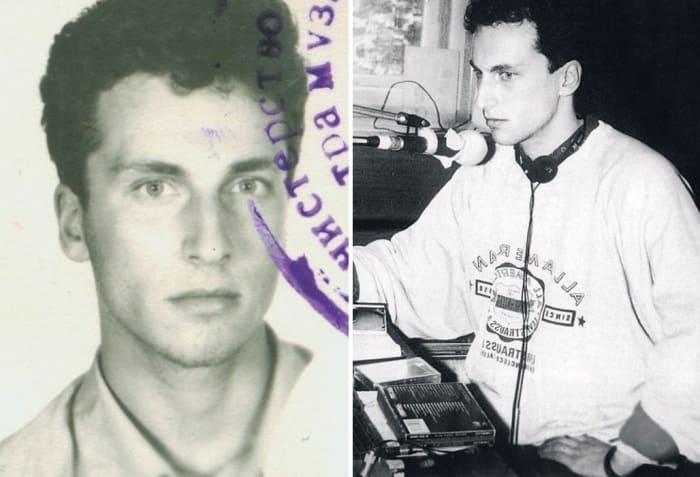 Дмитрий Нагиев в студенческие годы и во время работы на радио | Фото: strana-sovetov.com