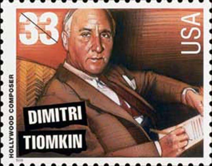 Дмитрий Темкин был изображен на почтовой марке из серии *Легенды американской музыки* | Фото: ju.org.ua