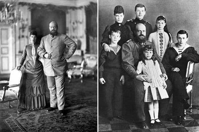 Император Александр III с супругой и детьми | Фото: norse.ru