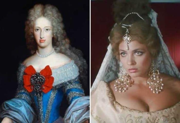 Королева Испании Мария Анна на портрете и в фильме | Фото: sekretmira.ru