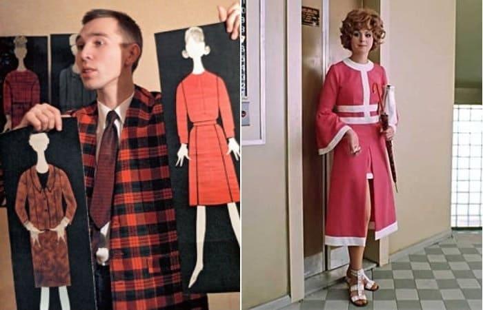 Начинающий модельер Вячеслав Зайцев и платье киногероини его дизайна   Фото: bigpicture.ru и russianroulette.eu