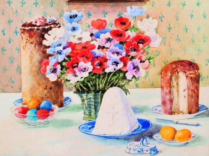 Пасхальный натюрморт великой княгини Ольги Романовой | Фото: artchive.ru