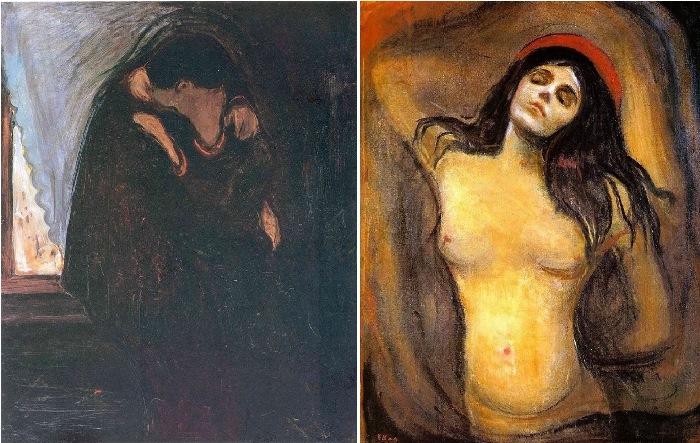 Эдвард Мунк. Поцелуй, 1898 г. Мадонна, 1895 г.