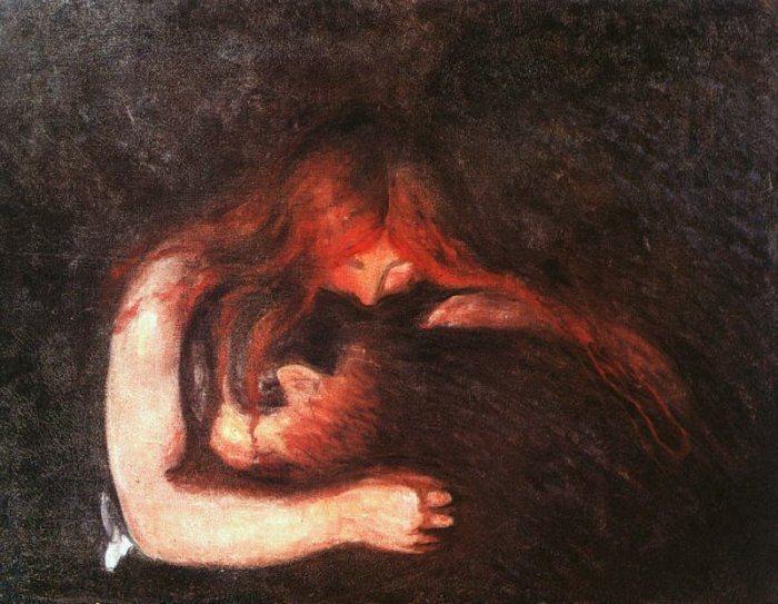 Эдвард Мунк. Вампир, 1893 г.
