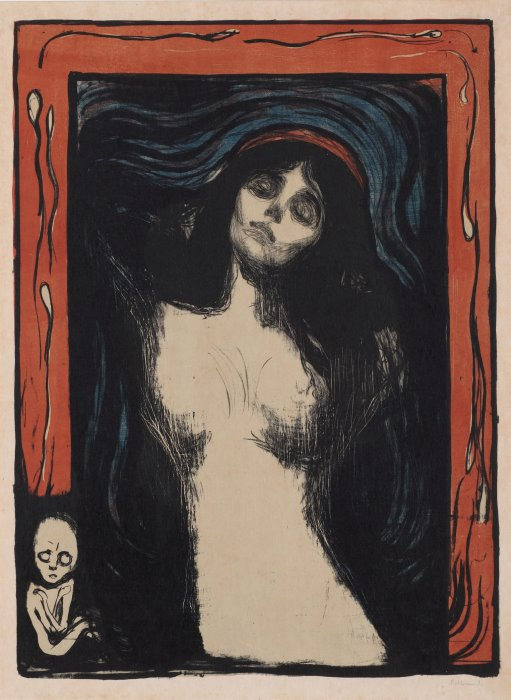 Эдвард Мунк. Мадонна, 1895 | Фото: artversed.com