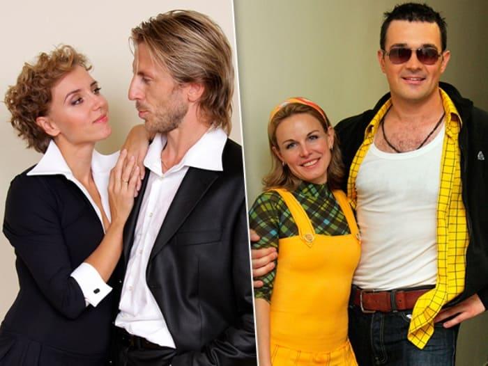 Актеры с их партнерами по шоу *Ледниковый период* | Фото: goodhouse.ru