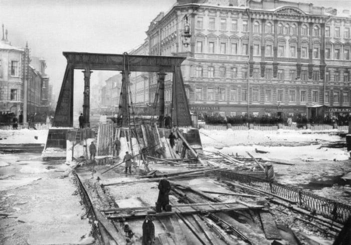 Катастрофа на Египетском мосту, 1905 | Фото: cvavr.ru