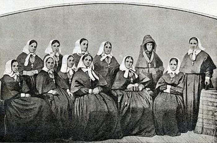 Сестры Крестовоздвиженской общины. Севастополь, 1855 г. | Фото: citywalls.ru