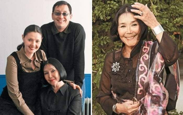 Наталья Аринбасарова с сыном и дочерью