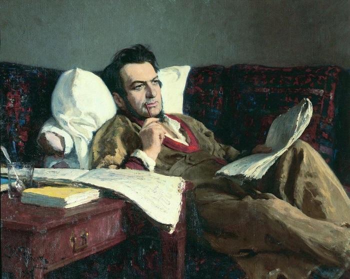И. Репин. Портрет композитора Михаила Глинки, 1887