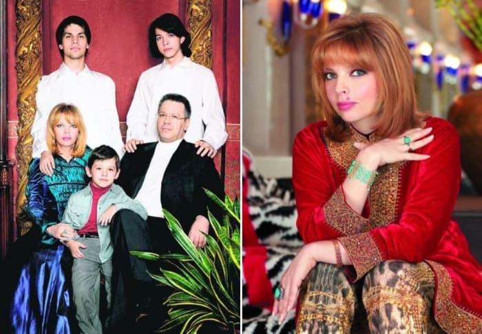 Екатерина Рождественская с мужем и сыновьями   Фото: segodnya.ua