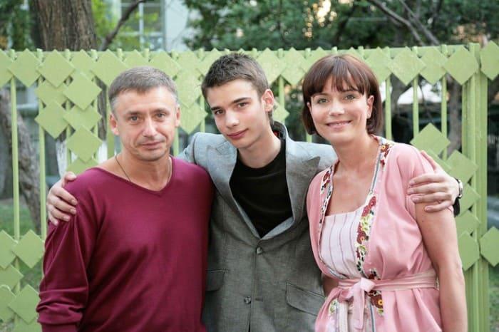 Антон Табаков, Екатерина Семенова и их сын Никита | Фото: 2aktera.ru