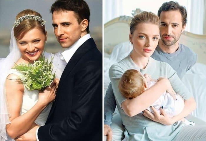 Актриса с мужем и ребенком | Фото: uznayvse.ru, stuki-druki.com