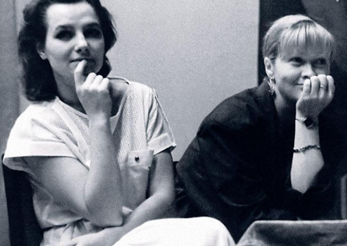 Елена Мольченко и Наталья Гундарева на встрече со зрителями. Пермь, 1986 | Фото: 7days.ru