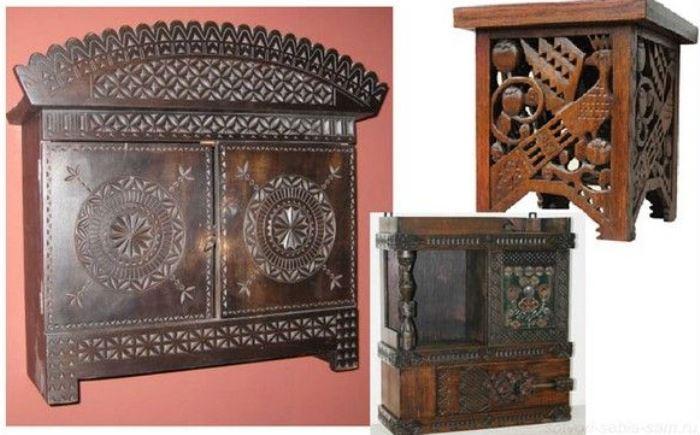 Мебель, изготовленная по эскизам Е. Д. Поленовой