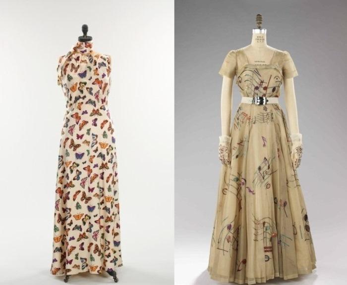 Платья из коллекций *Бабочки* и *Музыка*