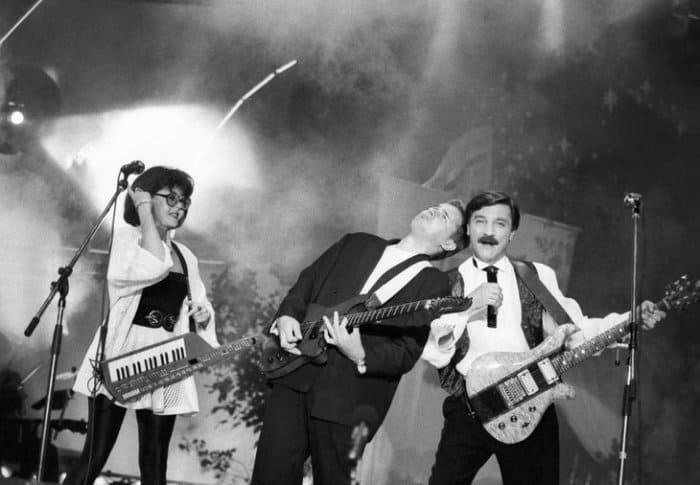 Ядвига Поплавская и Александр Тиханович на сцене, 1993 | Фото: m24.ru