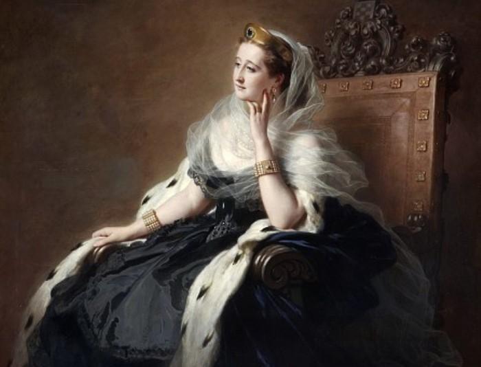 Ф. К. Винтерхальтер. Императрица Евгения, 1862. Фрагмент | Фото: gallerix.ru