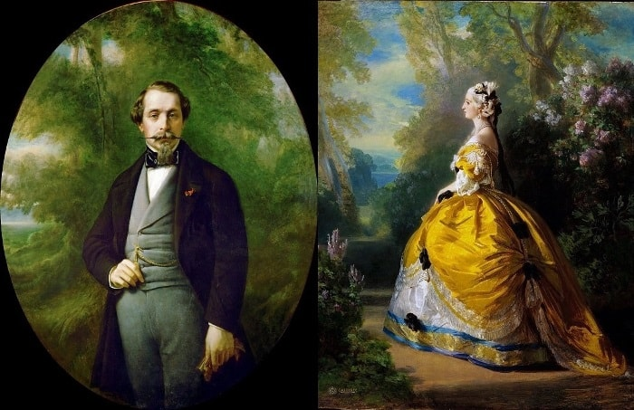 Ф. К. Винтерхальтер. Слева – Наполеон III, император Франции, 1857. Справа –  императрица Евгения, 1854 | Фото: gallerix.ru