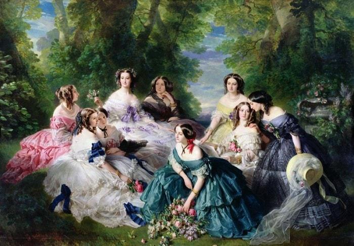 Ф. К. Винтерхальтер. Императрица Евгения с прислуживающими ей дамами, 1855 | Фото: gallerix.ru